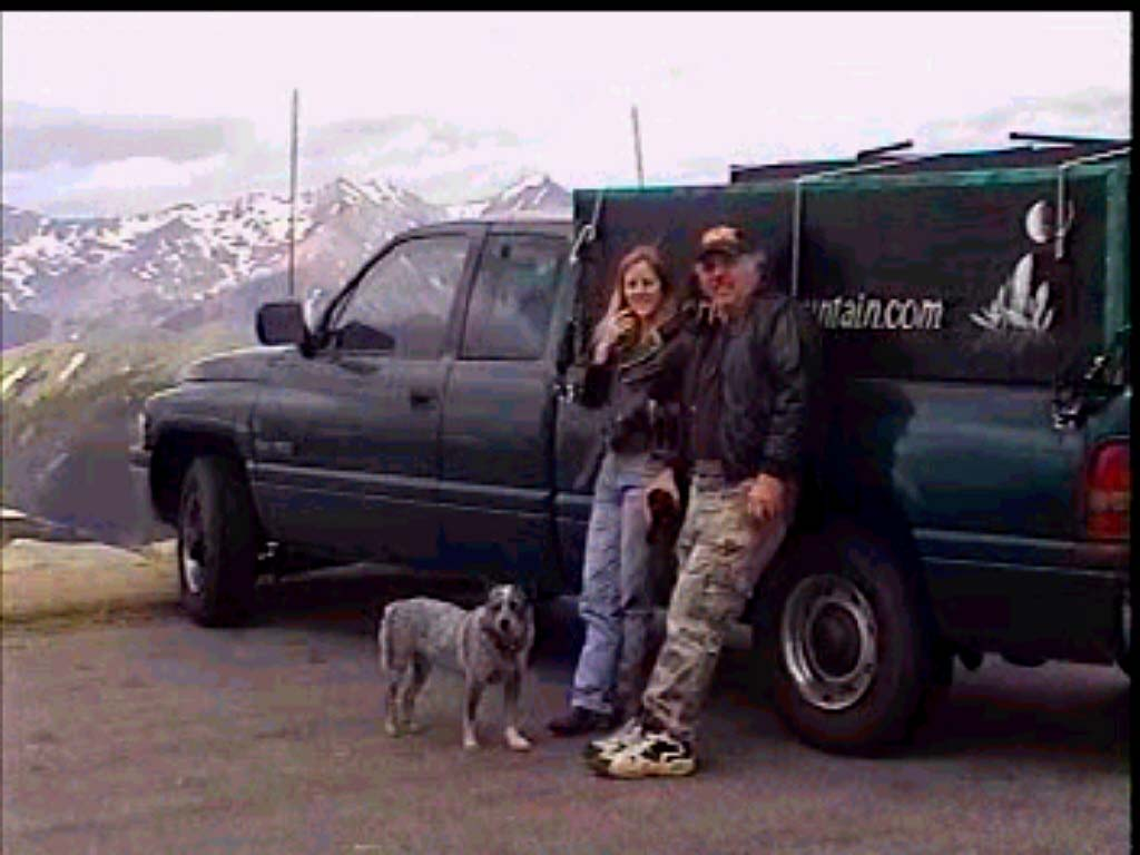 Kerry Kelly, Larry Murley and Shadow the Blue Heeler